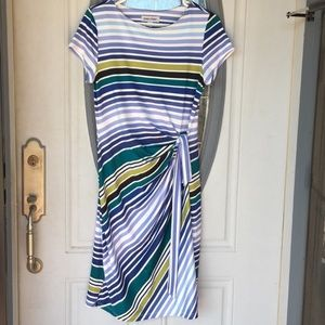 Casual striped short sleeved dress euc comfortable